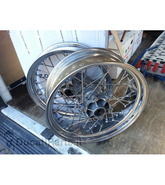 SPOKED WHEELS DUCATI SPORT 1000 CLASSIC PAUL SMART GENUINE USED