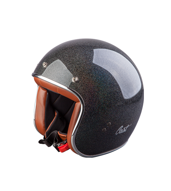 Helmet Cross Scrambler Vintage Cast 70 Black