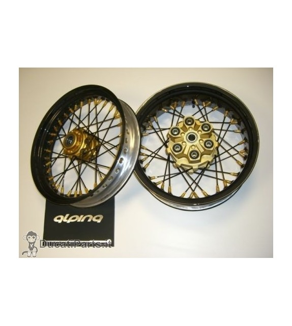 SPOKE WHEELS ALL BLACK ALPINA DUCATI SPORT CLASSIC