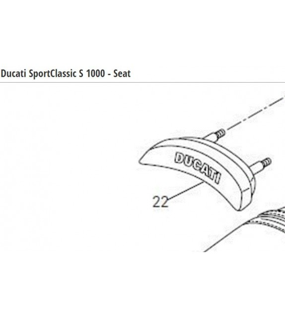 DUCATI TAMPONE SELLA SEAT BACK SPORT1000 BIP/07 RUECKENLEHNE