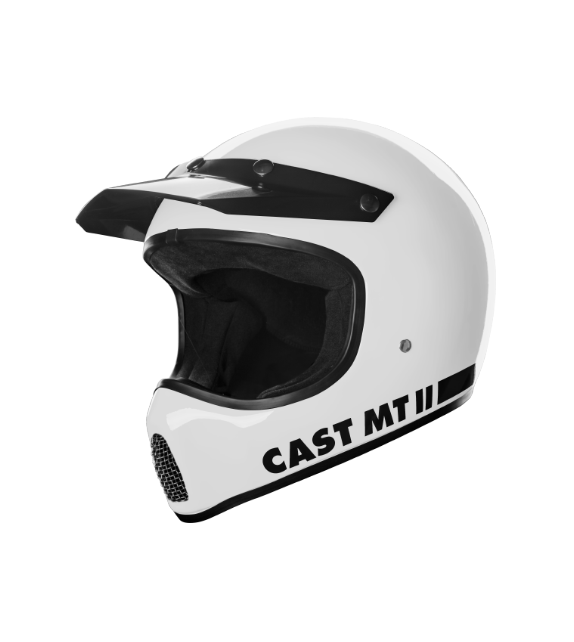 Casco Integrale Cross Scrambler Vintage Cast