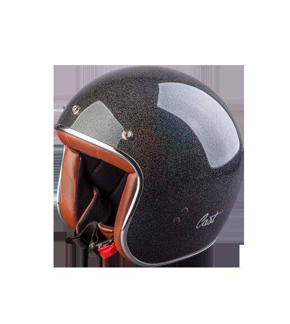 Helmet   Cross Scrambler Vintage Cast 70 Black